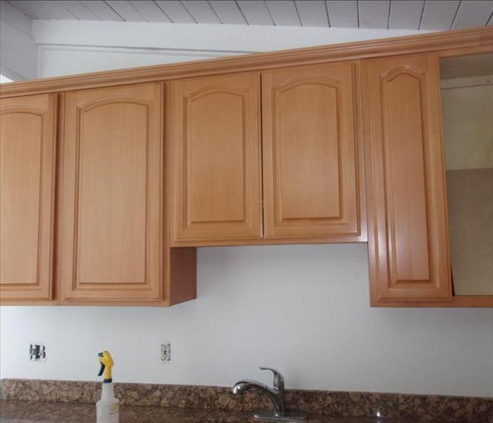 Cleaned Cabinets After